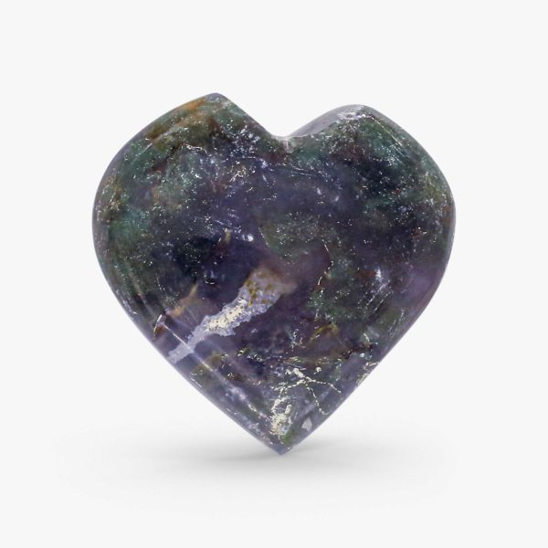 buy Moss agate hearts online