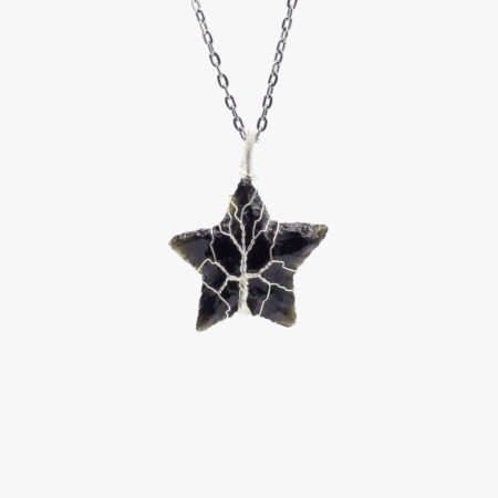 buy black obsidian star carving pedant wholesale online