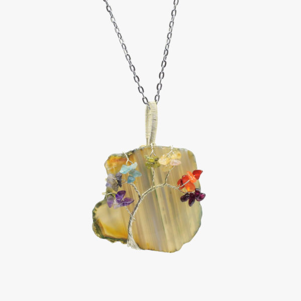 Buy Agate tree of life pendant wholesale online