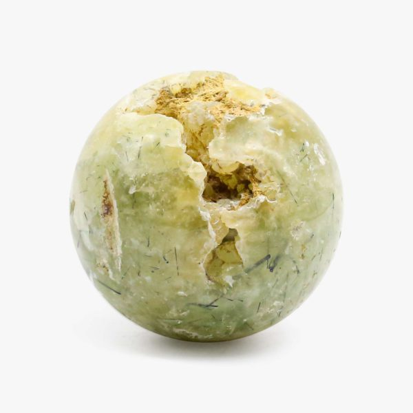 Green Prehnite druzy sphere