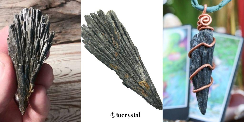 Black Kyanite Healing Crystal