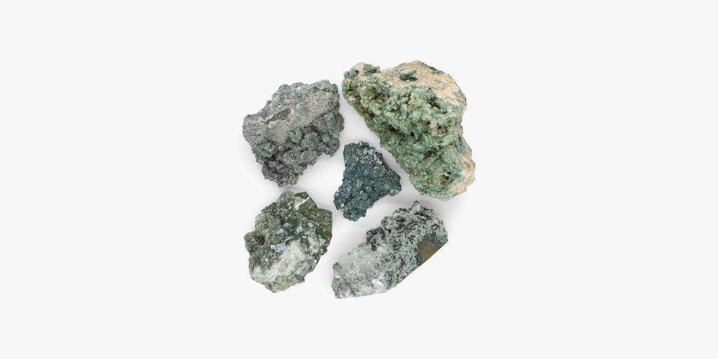 Green Heulandite Cluster