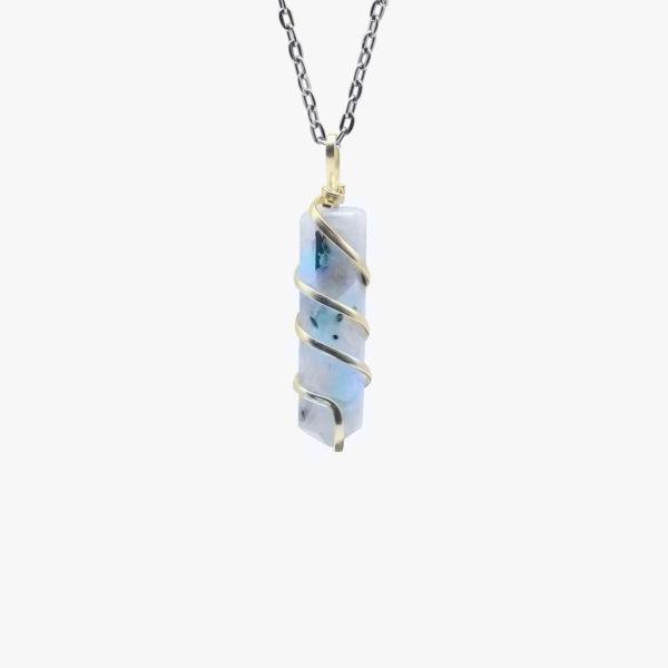 wholesale rainbow moonstone pendant