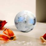Rainbow moonstone sphere