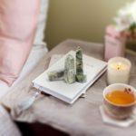 Healing crystal tower Natural Prehnite