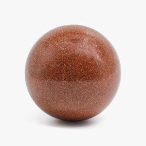 Red Goldstone spheres