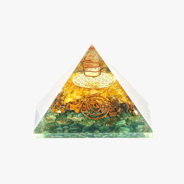 buy Clear Quartz Green Jade, Tiger Eye, and Citrine wholesale pyramid online