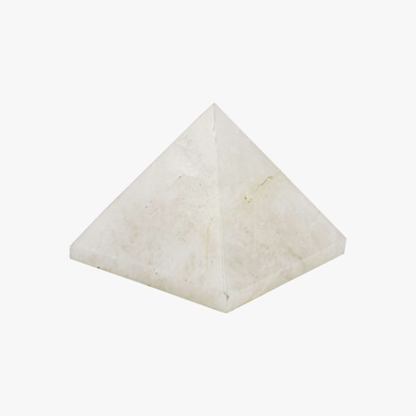 White agate pyramid crystal online