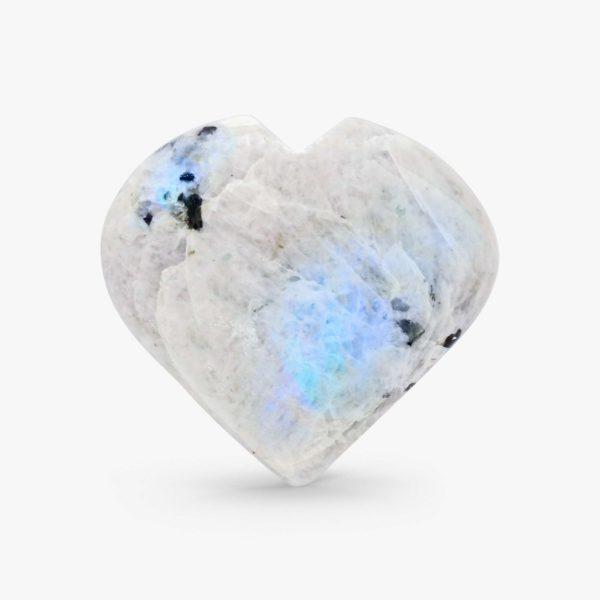 Rainbow Moonstone hearts