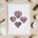 Rhodonite hearts bulk