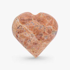 Buy peach moonstone hearts online