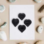 buy black tourmaline hearts online wholesale