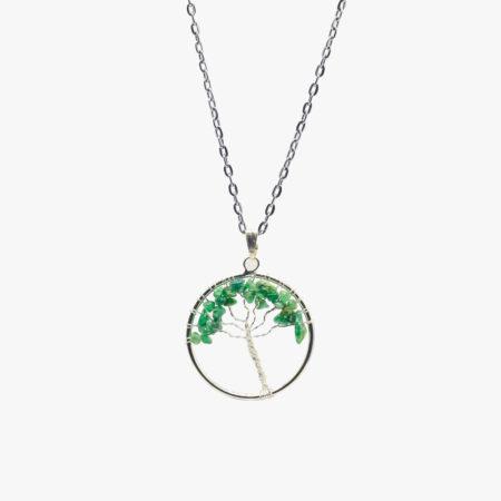 Buy green aventurine tree of life pendant