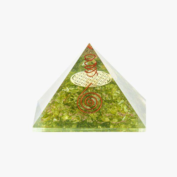 Peridot orgone pyramid online