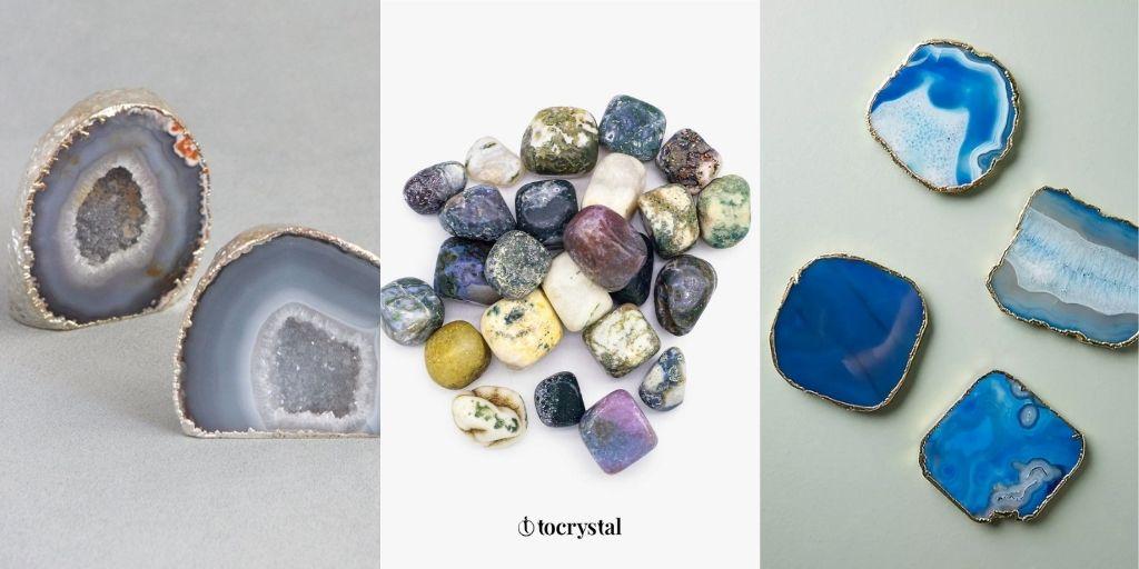 Agate crystal stones