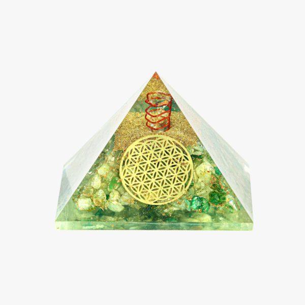 Green Onyx orgone pyramid
