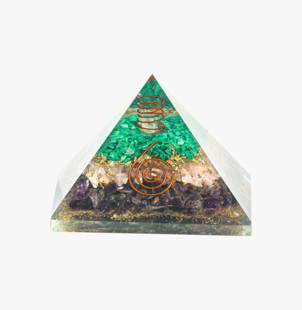 Buy Rose Quartz, Amethyst, and Malachite Pyramid wholesale online